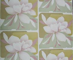 Retro Vintage Behang Magnolia Bloemen Behang