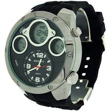 henley men 039 s chronograph and alarm digital lcd black rubber henley men 039 s chronograph and alarm digital