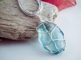 wire wrapped fluorite pendant