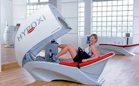 fan exercise bike. the former spice girl is said to be a fan of hpoxi pad, pictured exercise bike f