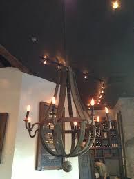 recycled wine barrel chandeliers
