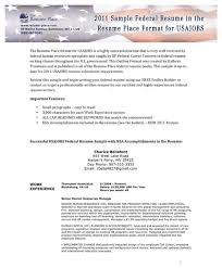 Sample Federal Resume Ksa Download Sample Federal Resume In The Resume Place Format