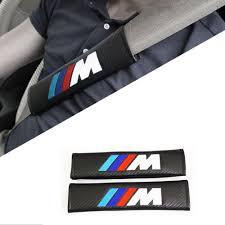 carbon leather m seatbelt cover