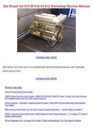 Daf Diesel Dd 575 Df 615 Dt 615 Workshop Serv by Princess Smoley - issuu
