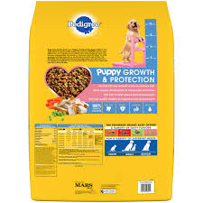 Pedigree Puppy Food Feeding Chart Pedigree Puppy Growth Protection Chicken Vegetable