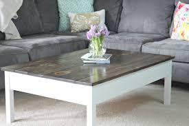 simple diy farmhouse style coffee table