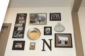 metal plate collage wall art