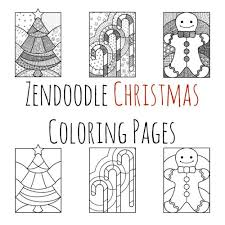 Small Picture Zendoodle Christmas Coloring Pages TodaysMama