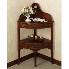corner tables furniture. Brown Lacquered Pine Corner Table With Bottom Display Regard To Tables Furniture T