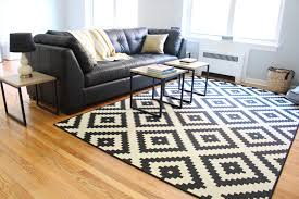 image of black and white rugs floor
