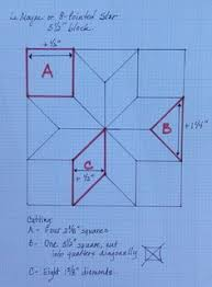Chart for making star quilts at different sizes (calculates size ... & Drafting, Part 2: Making an 8-Pointed or Lemoyne Star in Any Size Adamdwight.com