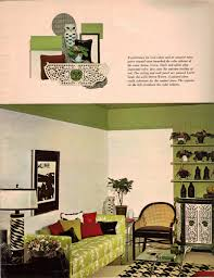 60s cool colors green black white owl decoration