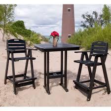 polywood® nautical bar height bistro set  pwnauticalset