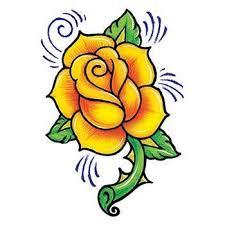 Růže žlutá