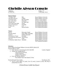 Doc 12751650 Musical Theatre Resume Examples Theater Music Example