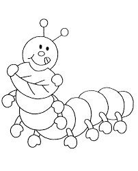 focus caterpillar picture to color insects coloring pages for kids print