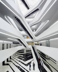 office building architecture design. Zaha Hadid Organizes Moscow\u0027s Dominion Office Building Around Central Atrium Architecture Design