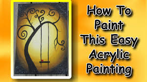 Easy Canvas Painting How To Paint An Easy Acrylic Painting For Beginners Youtube