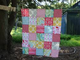 TEXTILE TROLLEY: How to make a patchwork baby blanket (no quilting ... & TEXTILE TROLLEY: How to make a patchwork baby blanket (no quilting  necessary) Adamdwight.com