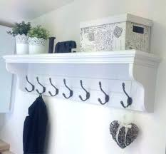 White Wall Mounted Coat Rack With Shelf Cool Interior White Wall Coat Rack White Wall Mounted Coat Rack