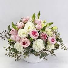 pink floral arrangements.  Arrangements Flower Arrangement In Round Style Pink White Light Green U0026amp  Color In Pink Floral Arrangements