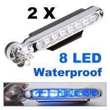 <b>2 Pcs</b>/<b>lot</b> 8 LED Blue Auto Car Truck Motorcycle <b>Wind</b> Power Day ...