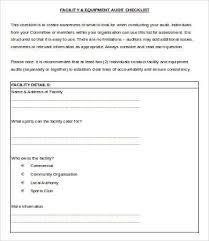 Document Audit Checklist 14 Audit Checklist Templates Free Sample Example Format