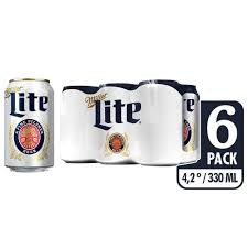 Miller Light Six Pack Cerveza Light Miller Lite Sixpack X 6 Unds 330 Ml C U