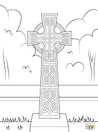 Croix Celtique Avec Décorations Super Coloring
