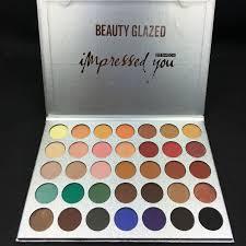 <b>Beauty Glazed 35 Colors</b> Matte Diamond Glitter Eyeshadow Palette ...