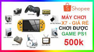 Máy chơi game X7 giá rẻ chơi được PS1, GBA, GB, SEGA, PC, SNES, NES   X7  Handheld