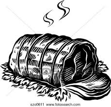 beef clipart black and white. Delighful And A Black And White Drawing Of Roast Beef Ready To Be Served Inside Beef Clipart Black And White L