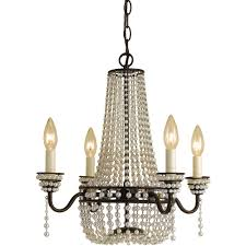 af lighting parlor mini chandelier 4 60w candle bulbs 18 hx18 w hardwire option