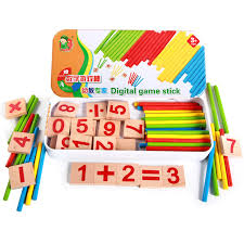 Wooden Math Games Montessori Wooden Number Math Game Sticks Educational Arithmetic 61
