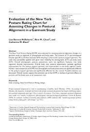 Pdf Evaluation Of The New York Posture Rating Chart For