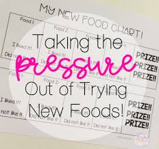 Try New Food Chart Taking The Pressure Out Of Trying New Foods Simply Speech
