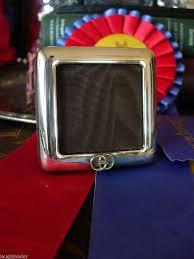 rare vintage small gucci silver picture photo art frame desk accessory sharp gg 1801785446