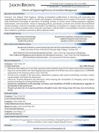 medical facility manager resume Director of Facilities Management Resume  (Sample)