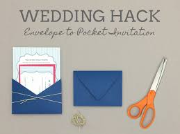 how to turn envelope into wedding invitation pocket print