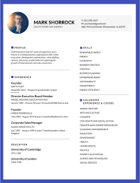 Business Resume Templates 100 Most Professional Editable Resume Templates for Jobseekers 48