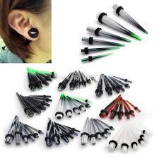 taper gauge kit. 12pc acrylic ear plug tapers gauge stretching kit piercing expander body jewelry 2mm-8mm taper h