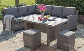 elegant rattan outdoor dining chairs palma corner set casual dining garden furniture kettler