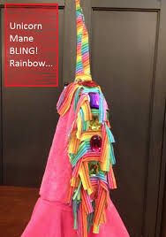 unicorn mane with bling rainbows costume diy make