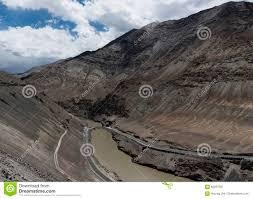 Bridge Over Indus River Flowing Through Gorge In Ladakh, India, Asia Stock  Image - Image of landscape, river: 83291281