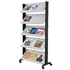 Single Magazine Display Stand Beauteous Freestanding Magazine Brochure Racks ABC Office