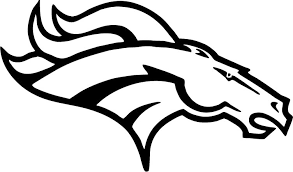 Nfl Coloring Pages Denver Broncos Logo Coloringstar
