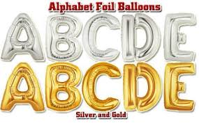 big size 40 aluminum gold and silver helium foil ballon letter balloons for party wedding decoration 100pcs lot