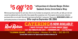 promotional red robin coupon for musikfest back side
