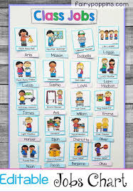 First Grade Job Chart Back To School Printables Preschool Classroom Jobs