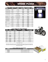 Accel Spark Plug Cross Reference Chart Page 9 Of Accell Motorcycle Products Catalog